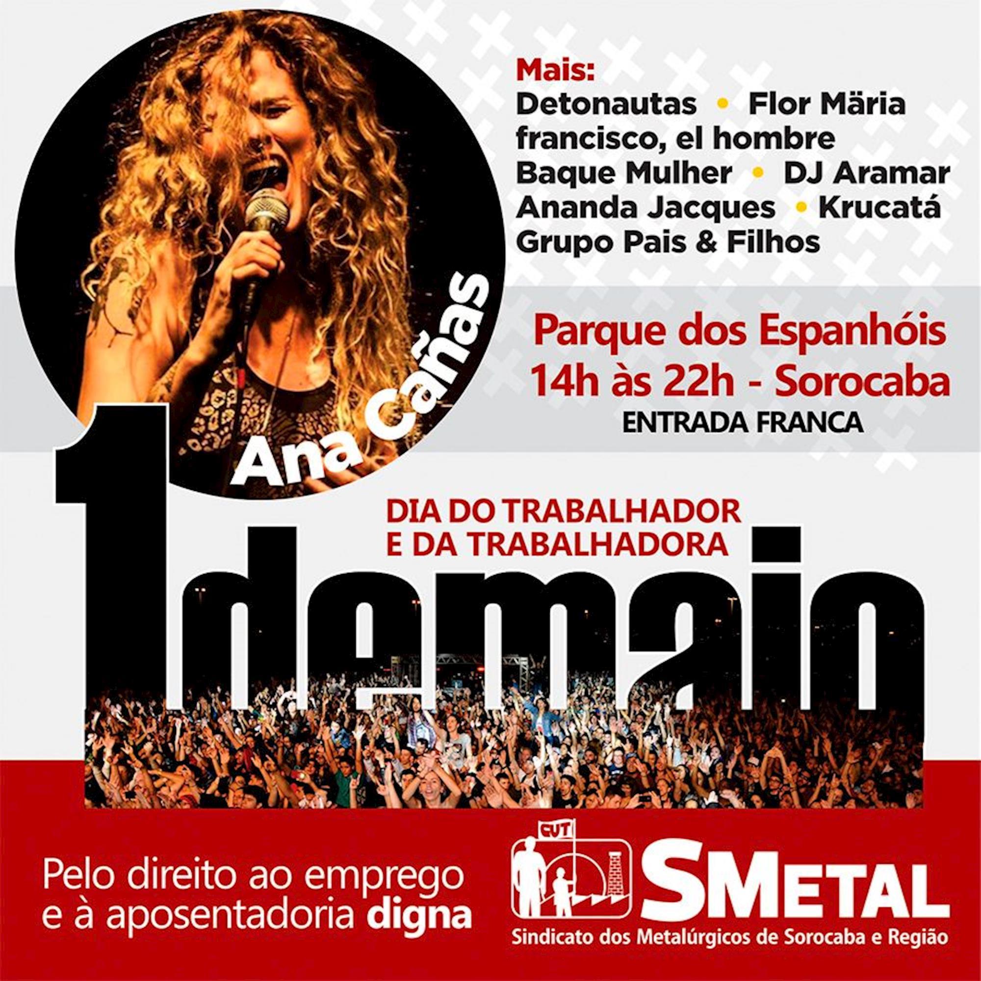 Ana, Cañas, trabalhador, musica, show, smetal, Divulgação