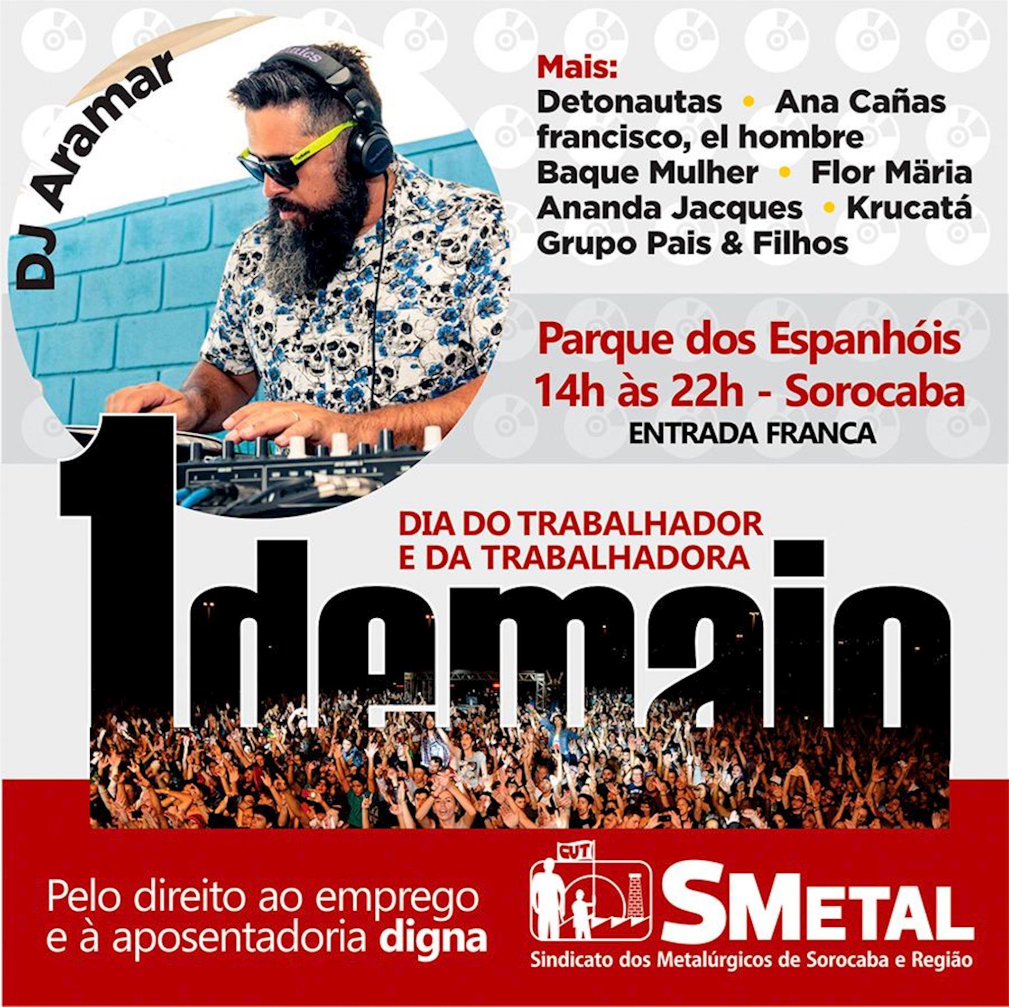 DJ, Aramar, maio, metalúrgico, smetal, trabalhador,, Divulgação