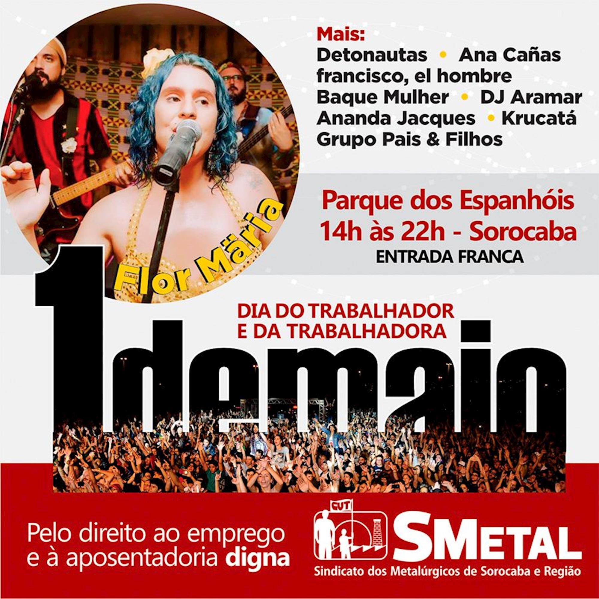 flor, show, metalúrgico, smetal, trabalhador, maio, Divulgação