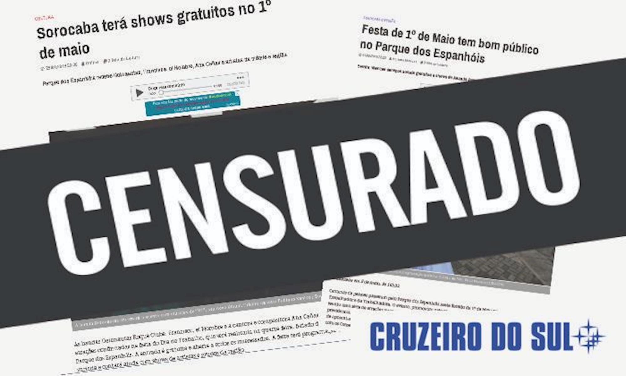 censura, cruzeiro, smetal, jornal, maio, trabalhador,, Divulgação