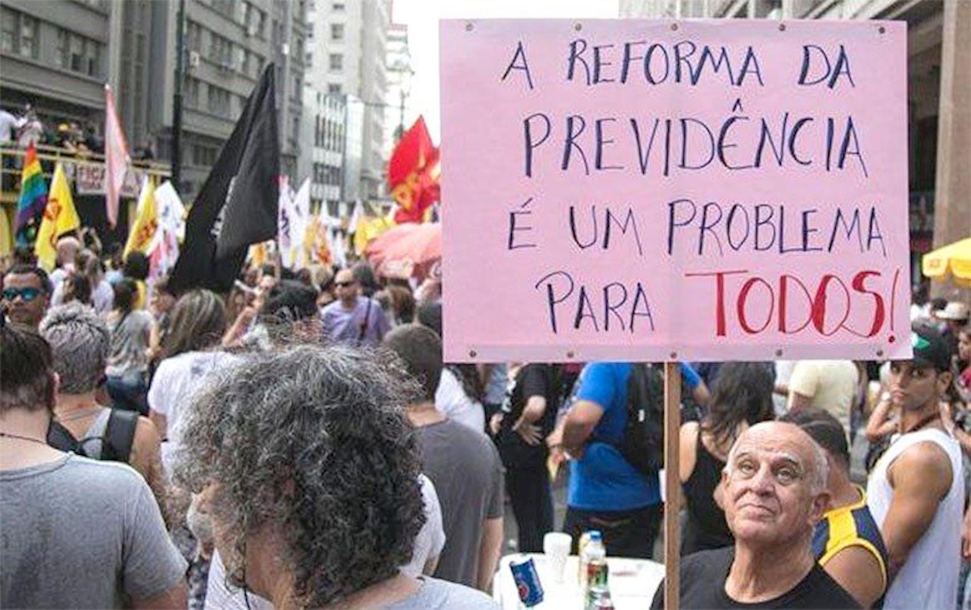 reforma, previdência, protesto, aposentadoria, GUILHERME SANTOS/SUL21