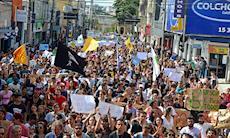 Protesto contra os cortes na Educação em Sorocaba