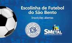 Escolinha de Futebol do São Bento inaugura no dia 25 de maio