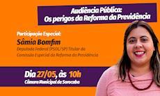 Deputada Sâmia Bomfim vem a Sorocaba debater a Reforma da Previdência