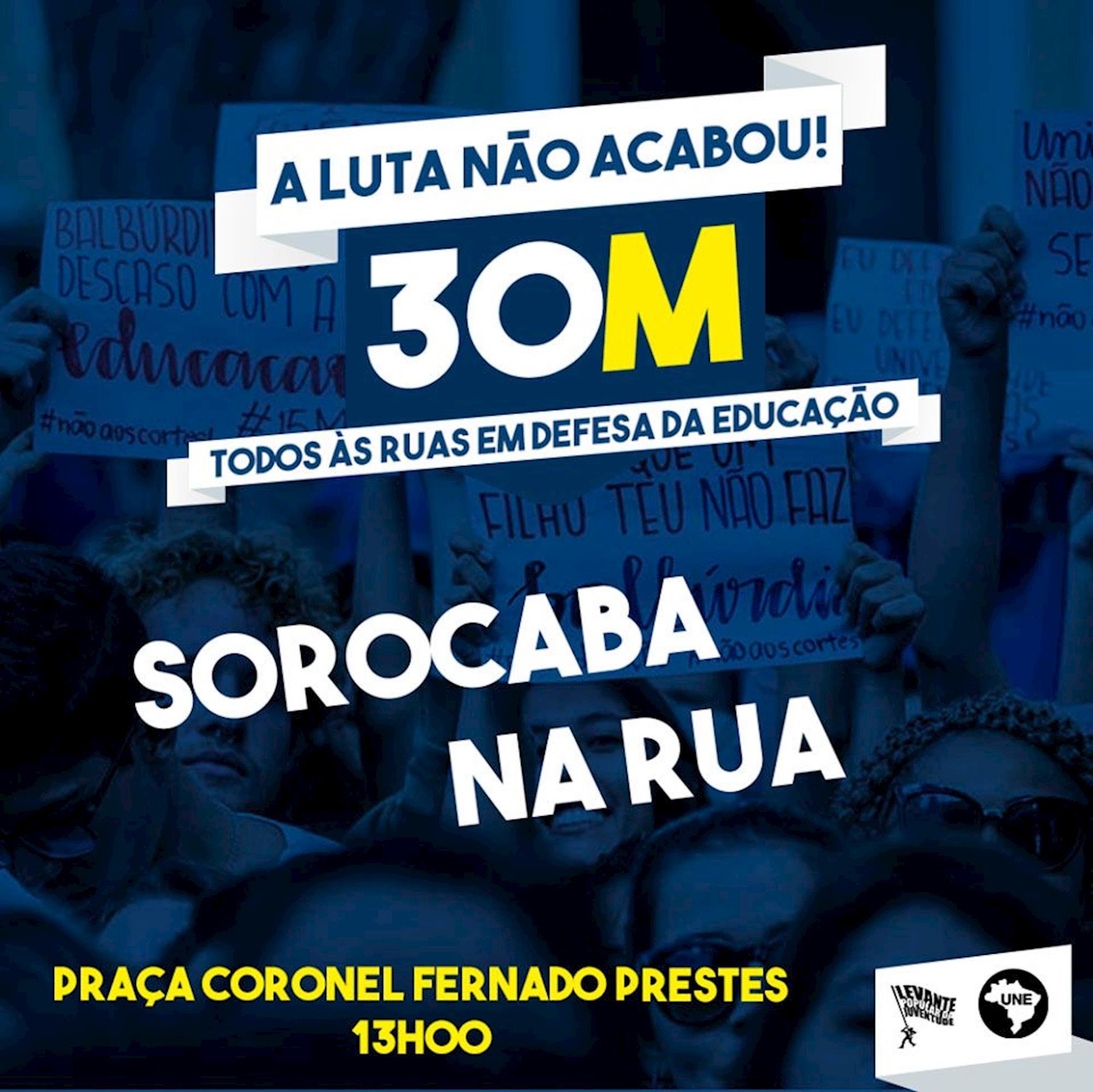 protesto, concentração, rua, educação, , Divulgação Levante Popular da Juventude e UNE