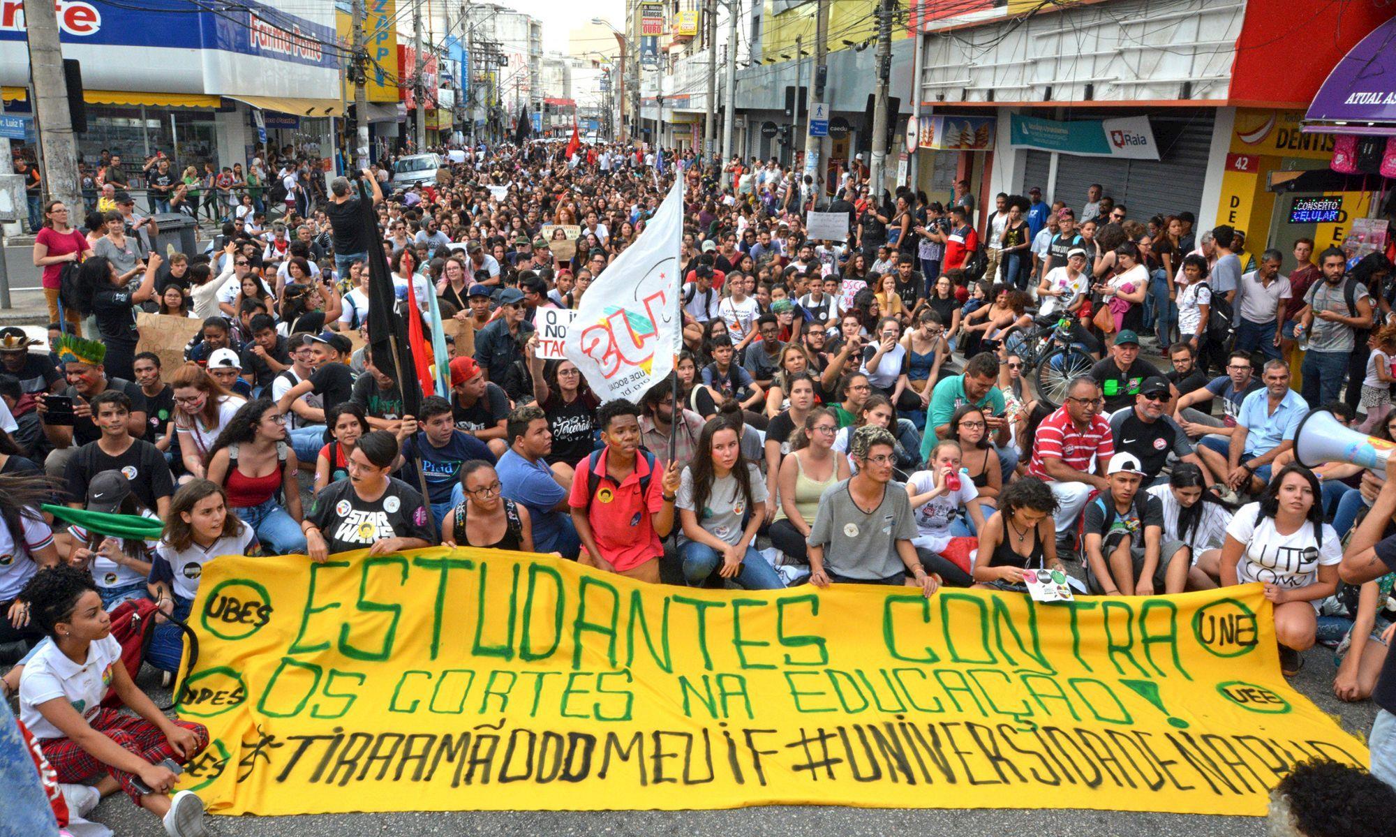 sorocaba, protesto, educação, tsunami, estudante, professor,, Foguinho/Imprensa SMetal