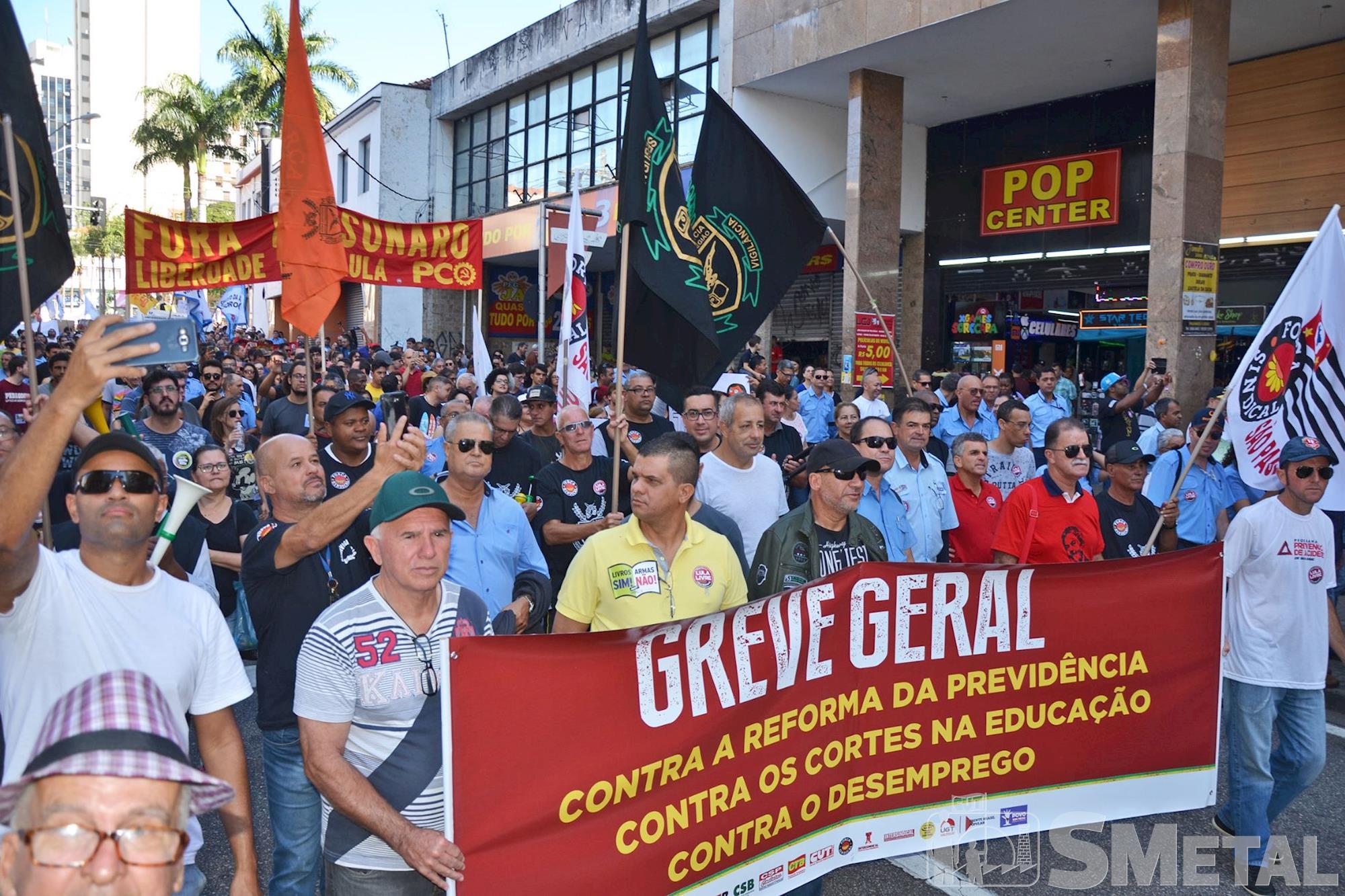 Imagens da Greve Geral em Sorocaba: contra a Reforma da Previdência