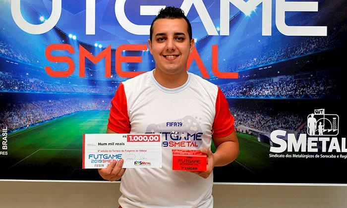 Rafael Carvalho, da Toyota, vence o 9º Torneio de Futgame do SMetal