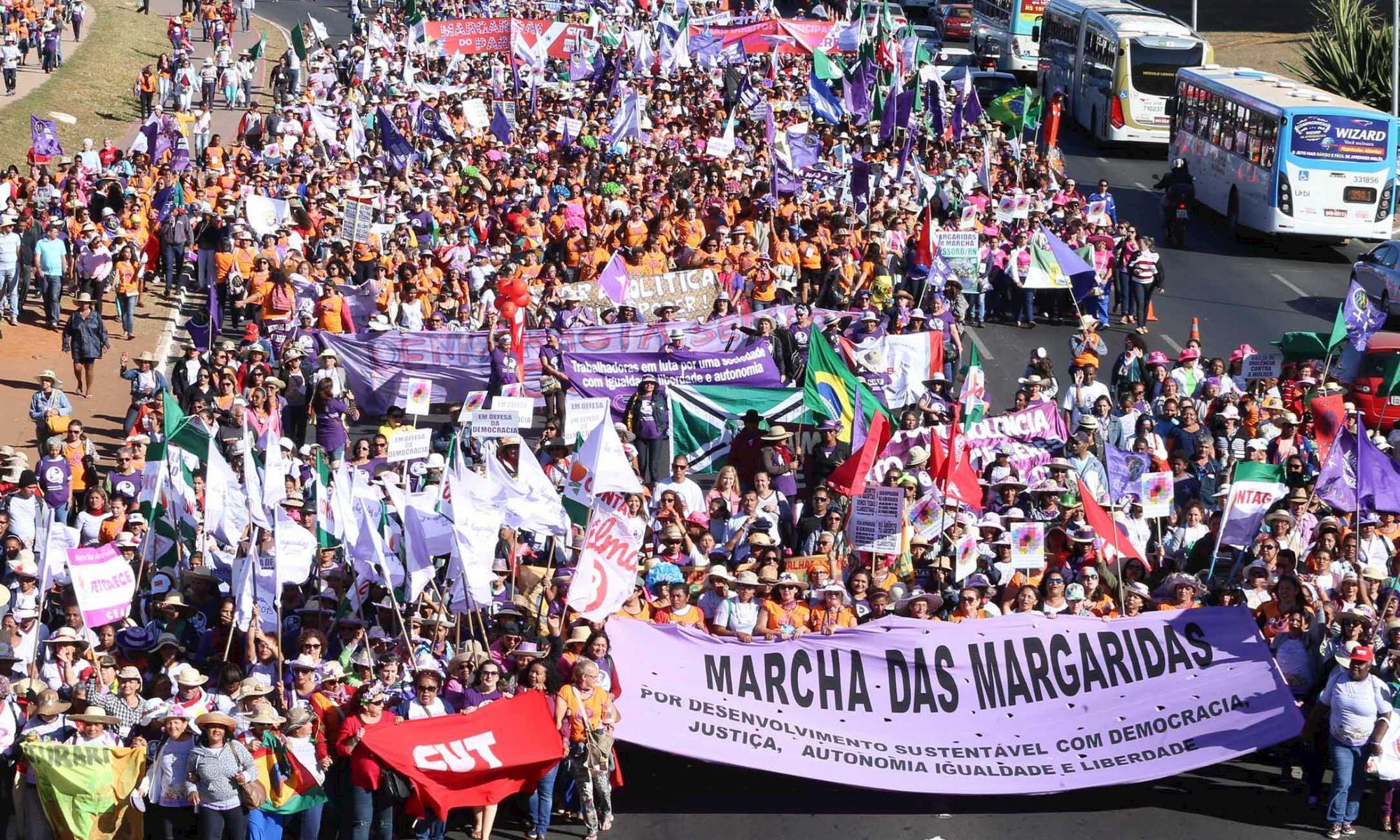 marcha, margaridas, brasilia, mulher, feminismo,, Lula Marques