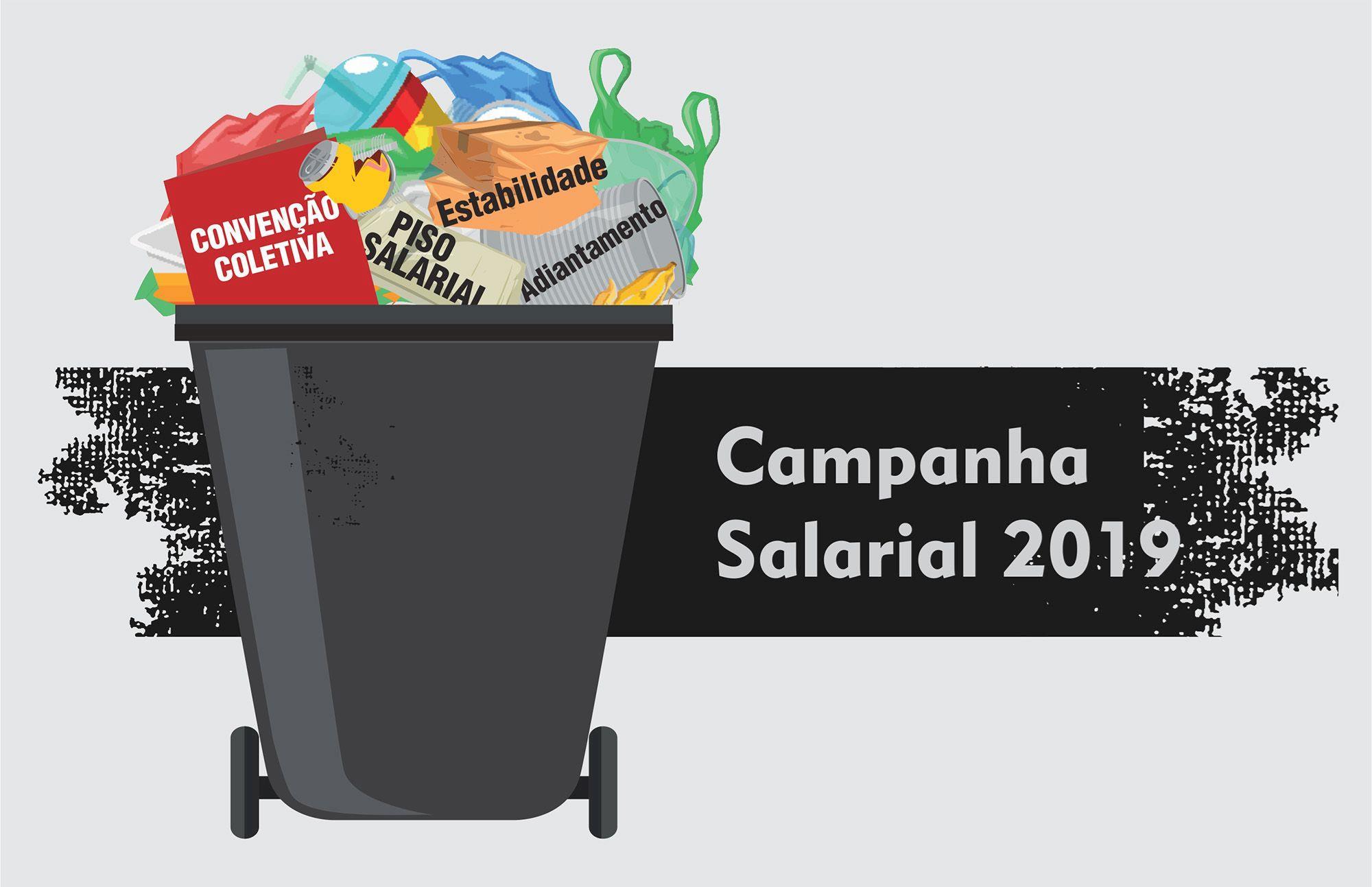 campanha, salarial, smetal, direito, convenção, lixo,, Arte: Cassio Freire / Imprensa SMetal