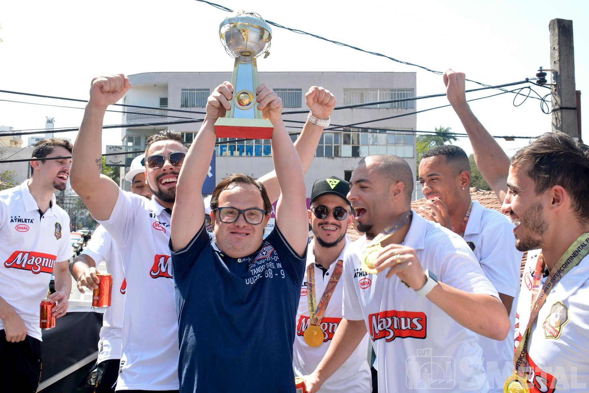 Desfile em comemoração ao Tricampeonato Mundial de Futsal da Magnus, futsal,  smetal,  tricampeão,  mundial,  desfile,  Magnus, Foguinho/Imprensa SMetal,  Desfile em comemoração ao Tricampeonato Mundial da Magnus Futsal