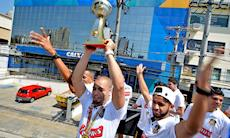 Desfile em comemoração ao Tricampeonato Mundial da Magnus Futsal