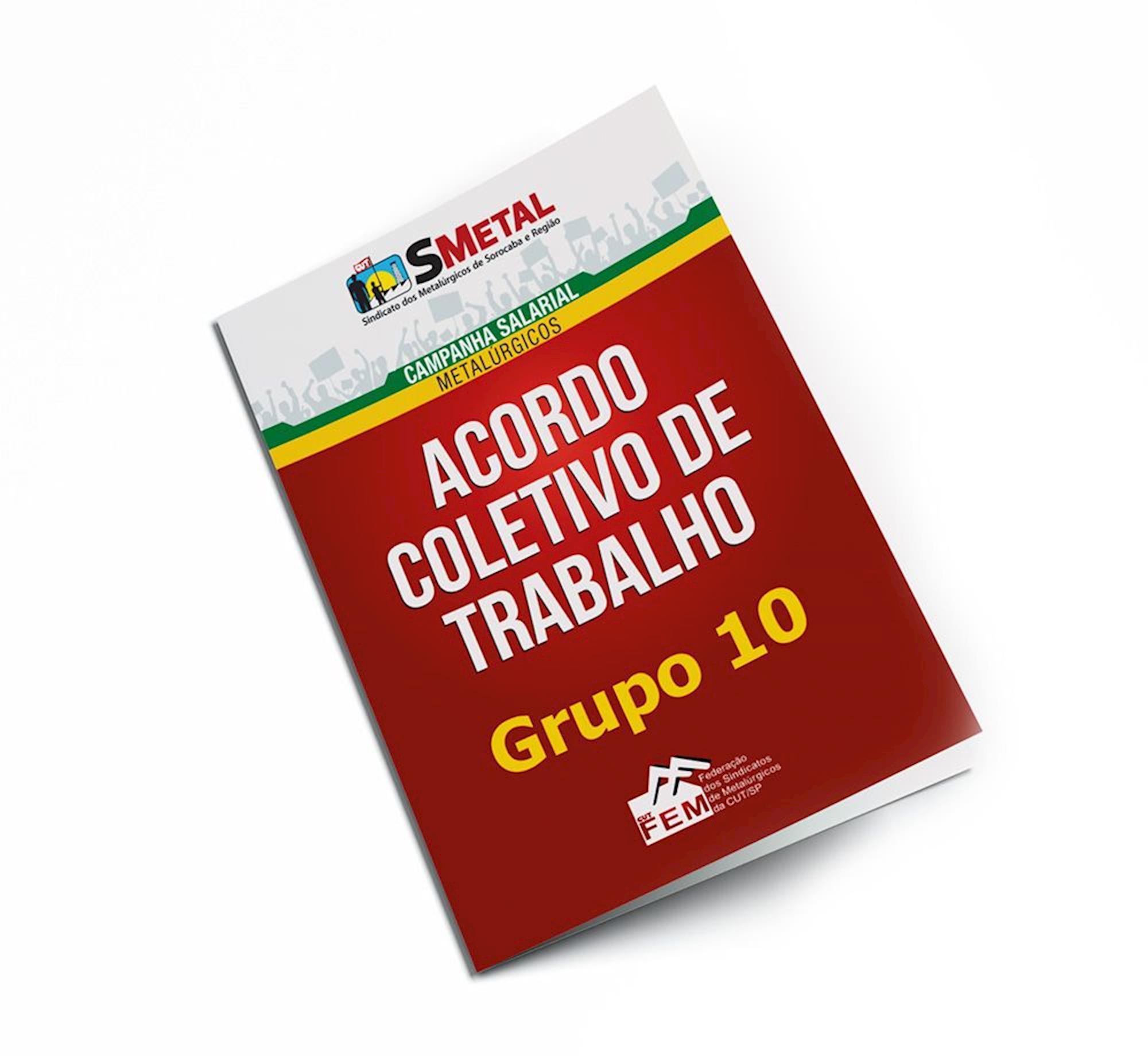 acordo, coletivo, trabalho, grupo 10, g10, Divulgação