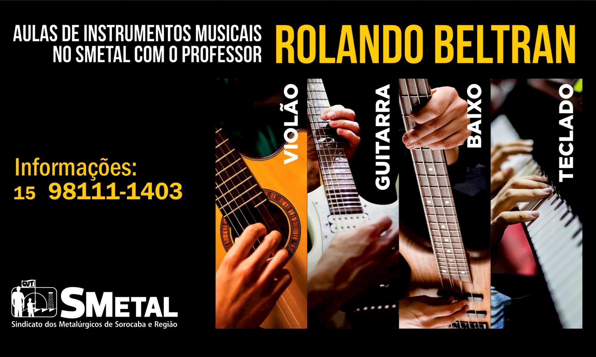Faça aulas de instrumentos musicais no SMetal