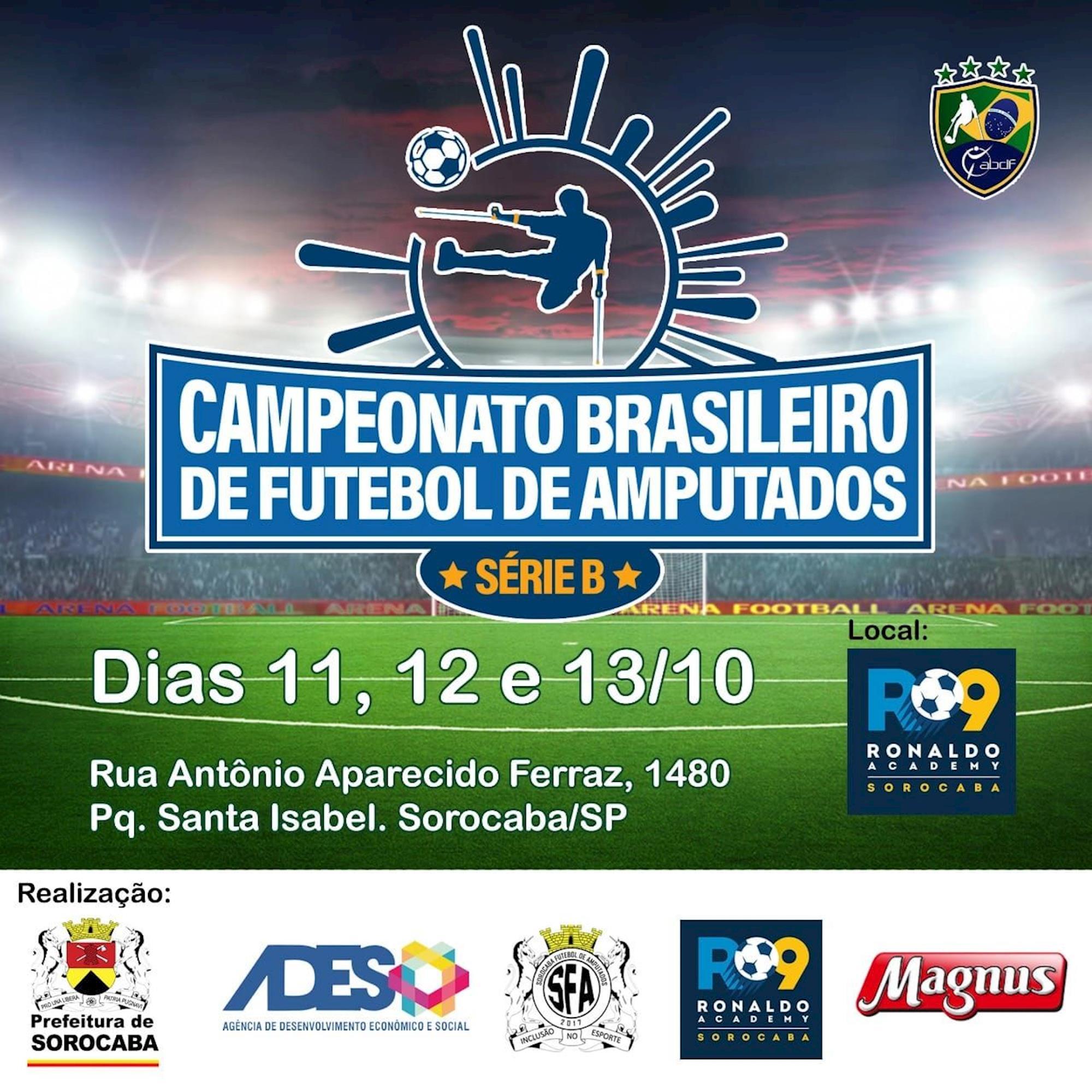 amputado, futebol, sorocaba, brasileiro,, Divulgação