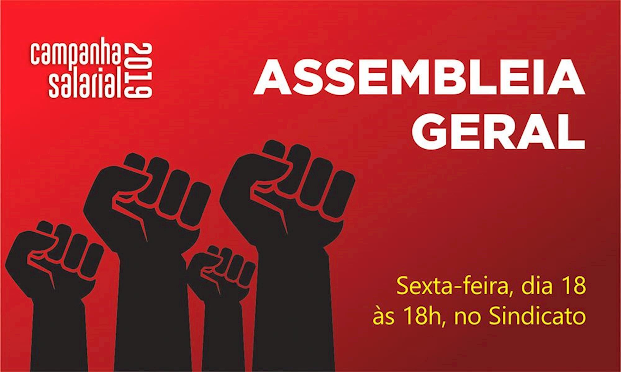 assembleia, campanha, salarial, , Divulgação