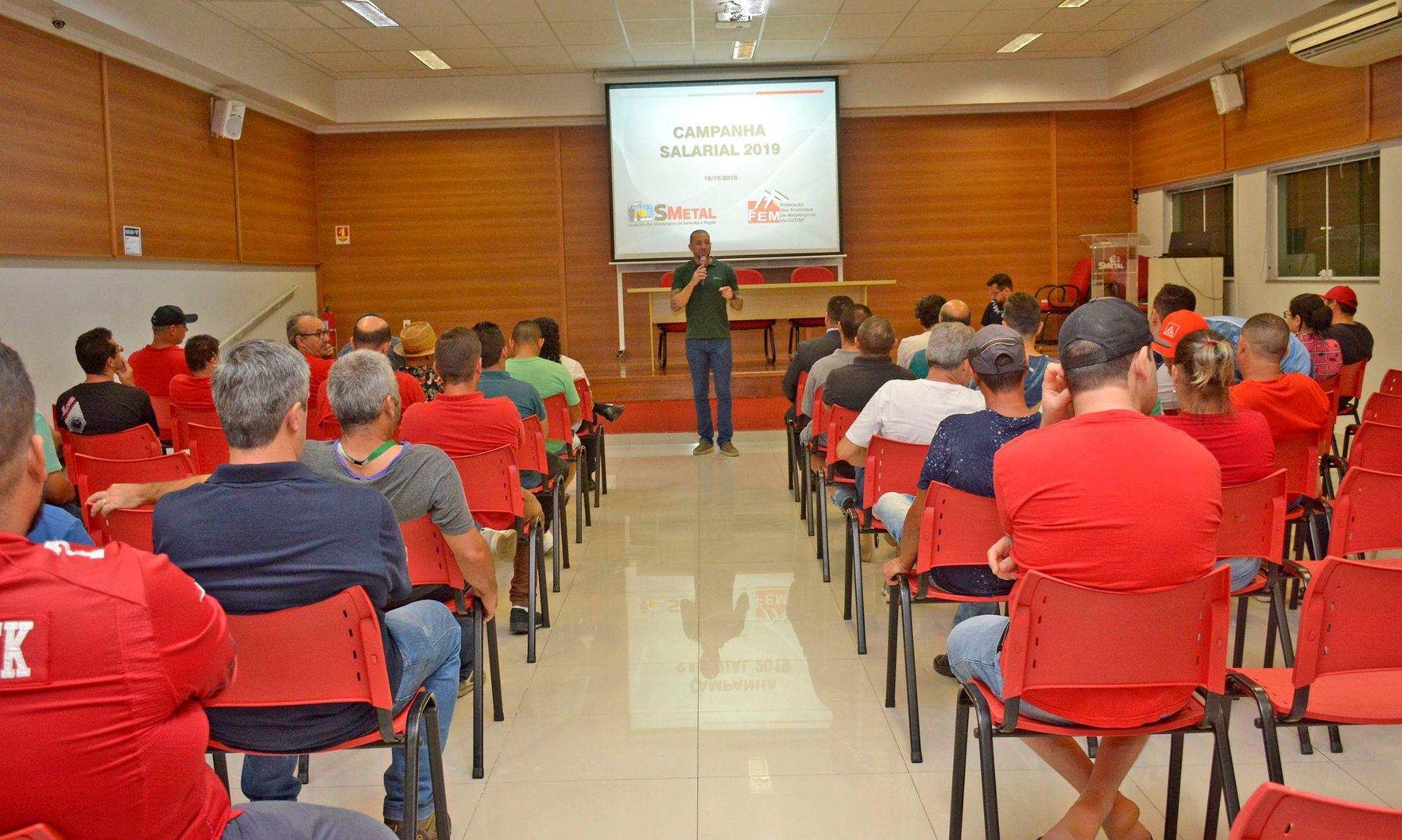 assembleia, campanha, salarial, sorocaba, reajuste, , Foguinho/Imprensa SMetal