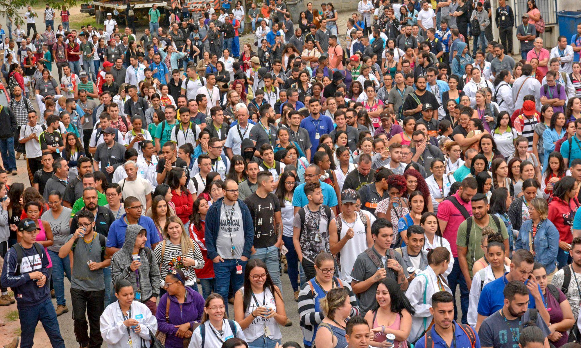 mobilização, flex, sorocaba, campanha, salarial, flex,, Foguinho/Imprensa SMetal