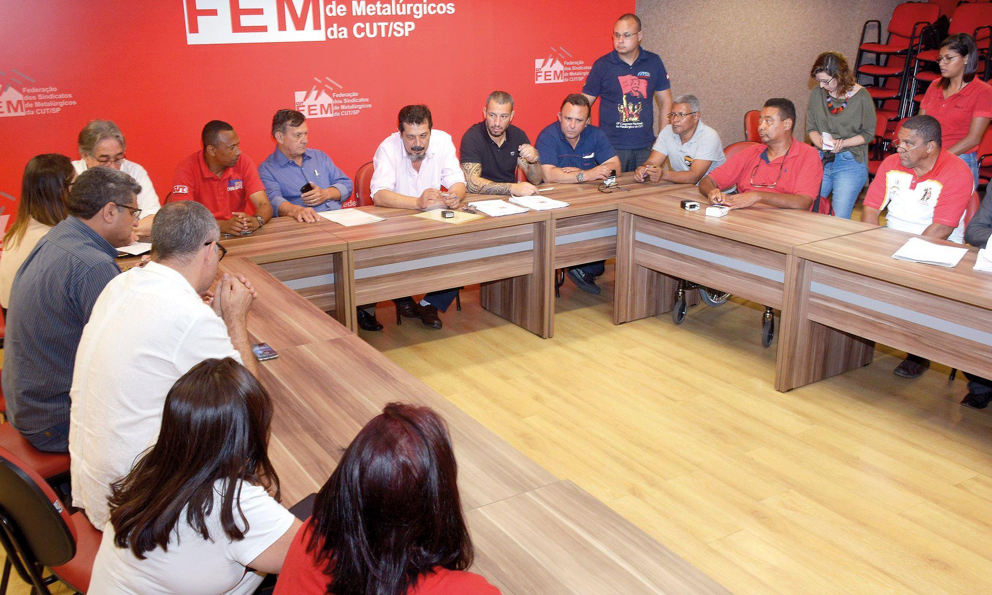 cct, assinatura, convenção, fem, campanha, salarial, reajuste,, Foguinho/Imprensa SMetal