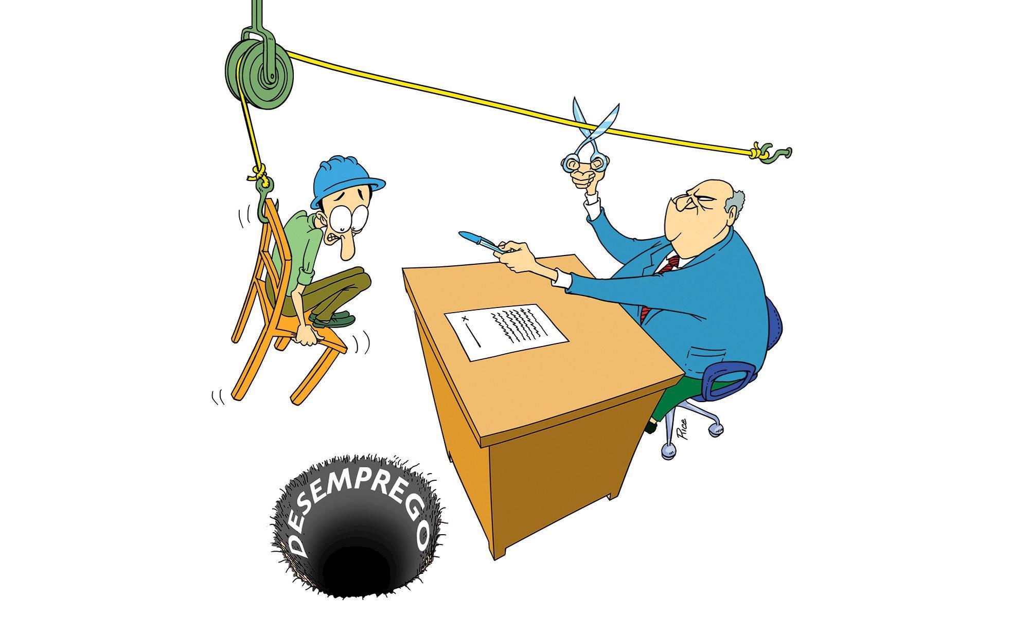 desemprego, informalidade, trabalhador, mp, rice, emprego, charge, Arte: Rice