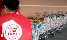 Natal sem Fome: ação em supermercados arrecada 1.200 kg de alimentos