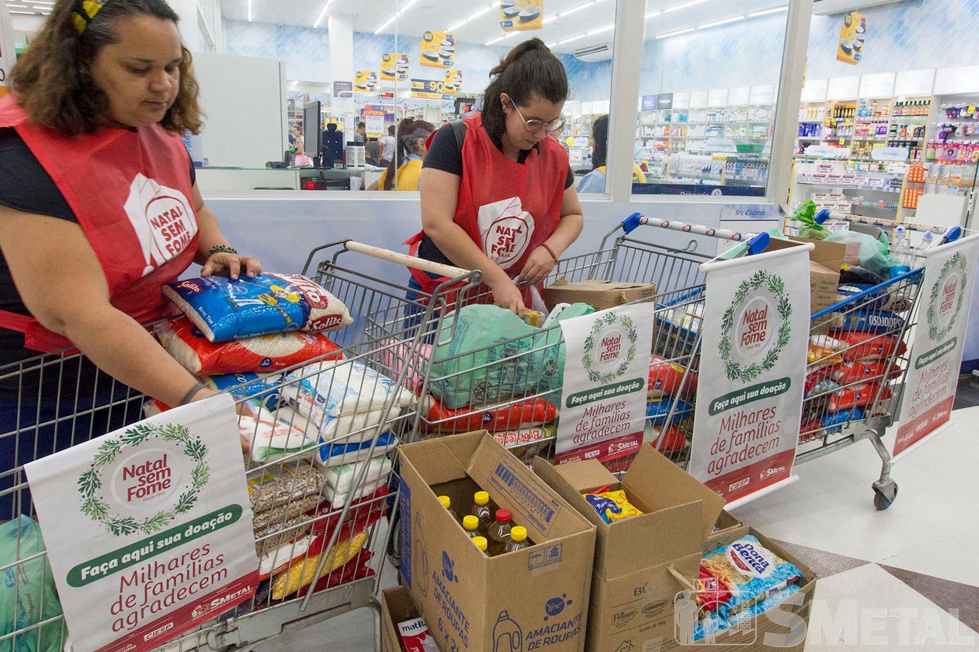 Natal Sem Fome distribui 27, 5 toneladas de alimentos a famílias carentes
