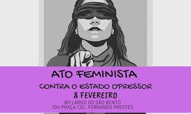 Ato neste sábado marca a resistência contra a violência contra a mulher