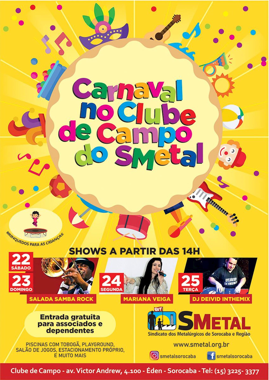 clube, carnaval, metalúrgico, show,, Divulgação
