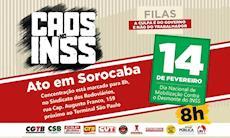 Centrais protestam contra o desmonte do INSS nesta sexta-feira