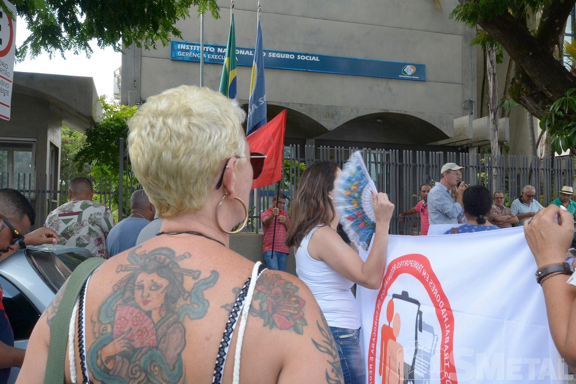 Foguinho/Imprensa SMetal , Trabalhadores de Sorocaba protestam contra o desmonte do INSS