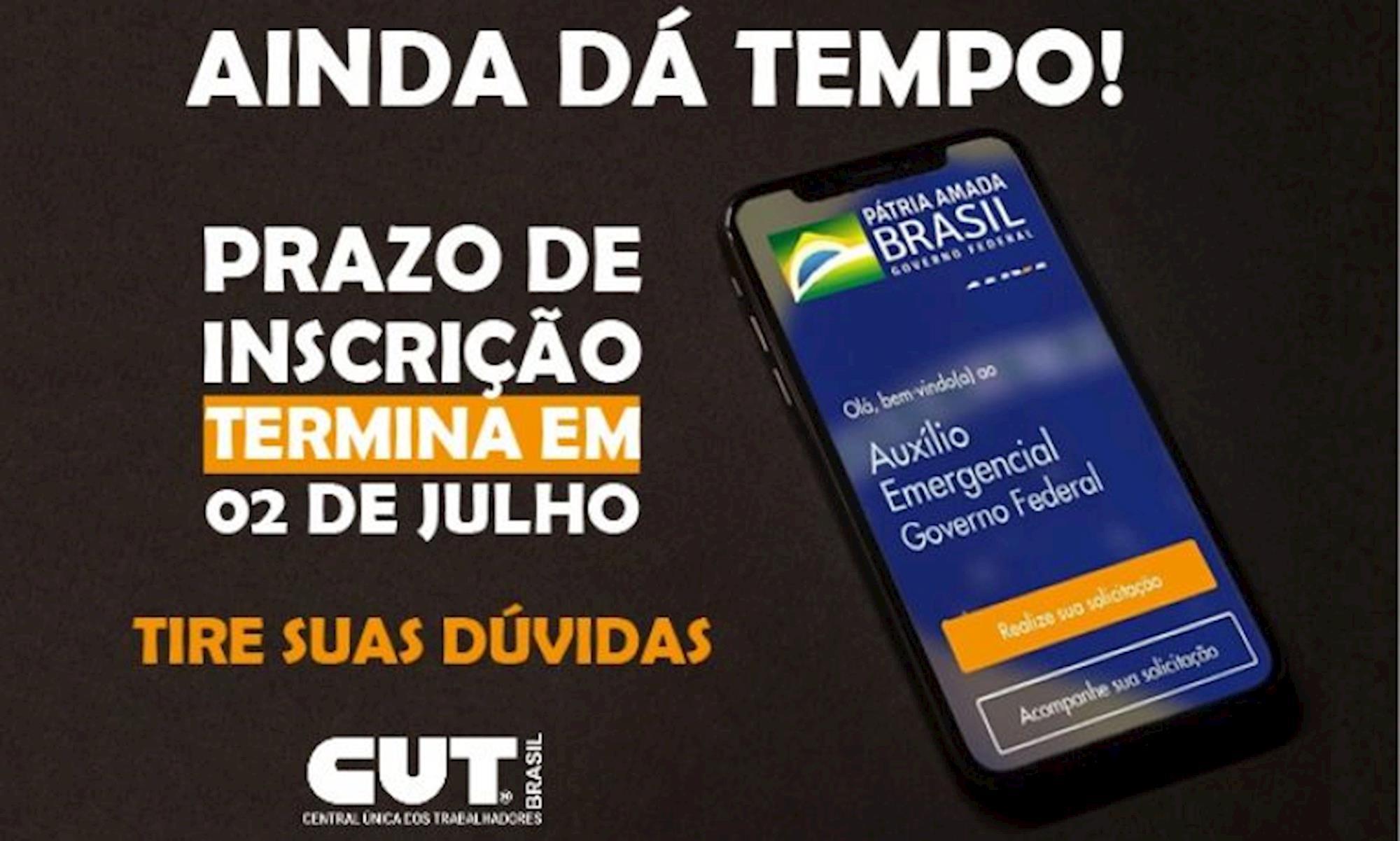 cut, auxilio, emergencial, 600 reais, Divulgação CUT
