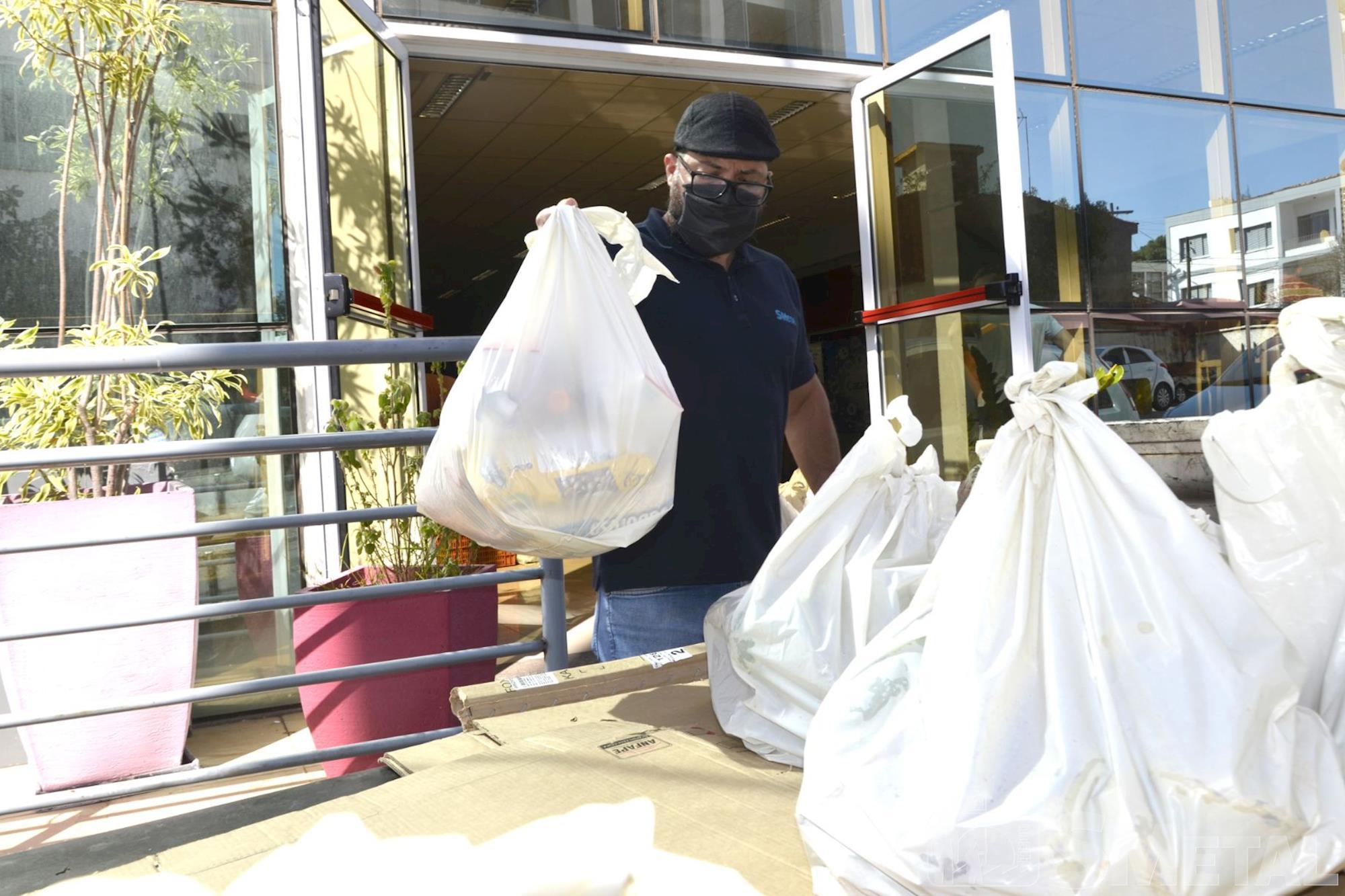 Jônatas Rosa/Imprensa SMetal , Banco de Alimentos e Catalent Pharma Solutions doam 500 cestas básicas