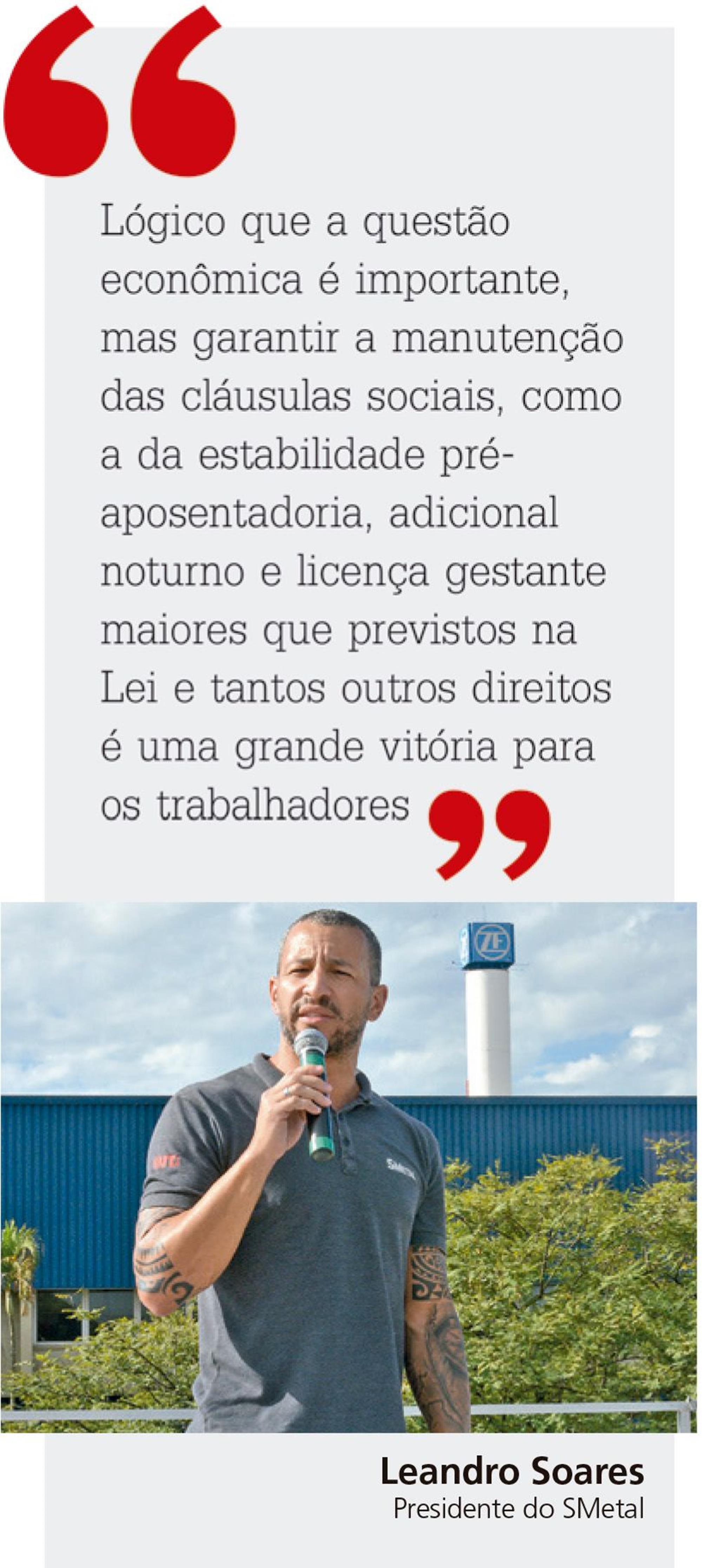 leandro, soares, campanha, salarial, Divulgação/Folha Metalúrgica - Foto: Arquivo/Foguinho