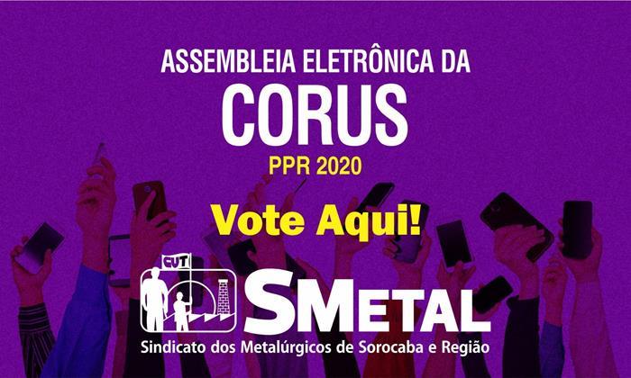 Assembleia Eletrônica dos trabalhadores da Corus; vote aqui