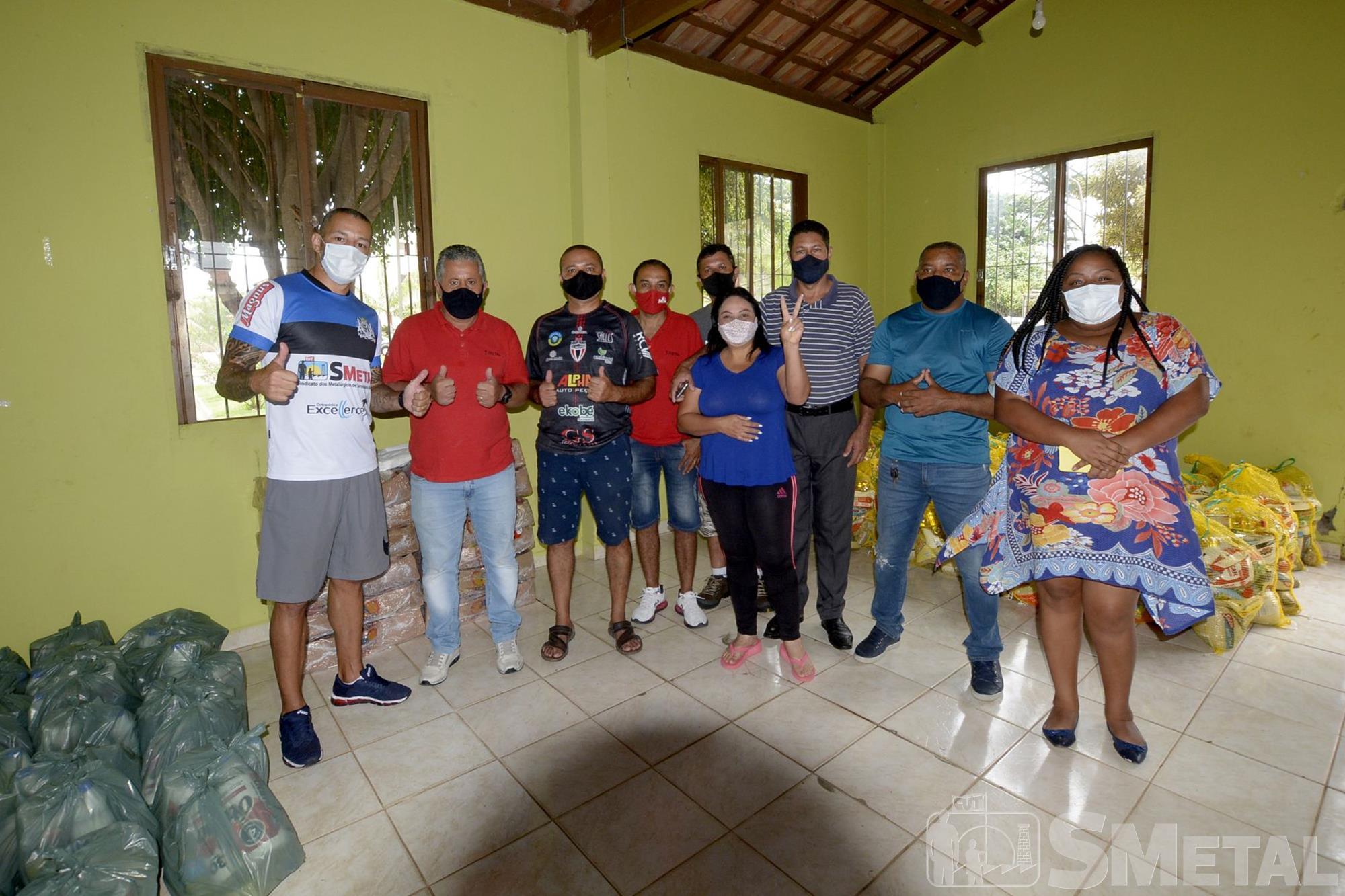 Foguinho/Imprensa SMetal , Natal sem Fome doa 1, 1 mil cestas em Sorocaba e região; confira as fotos