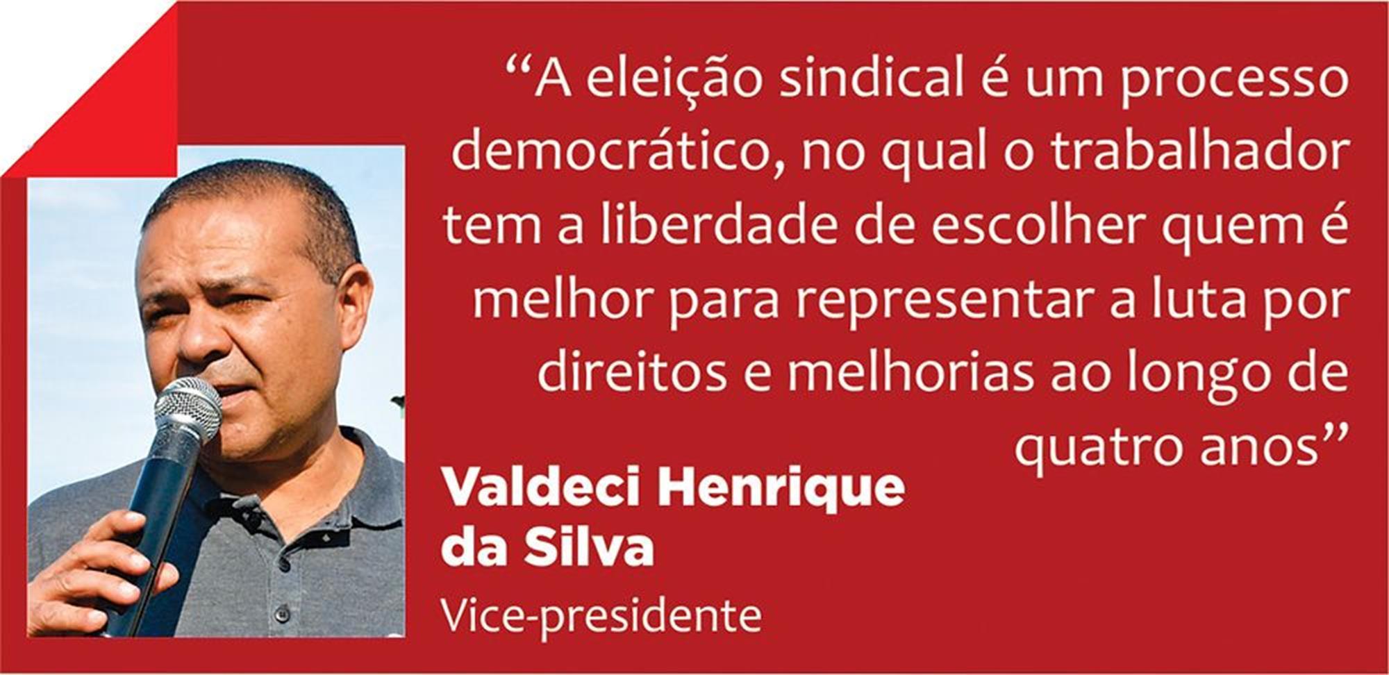 verdinho, eleição, sindical, valdeci, Divulgação