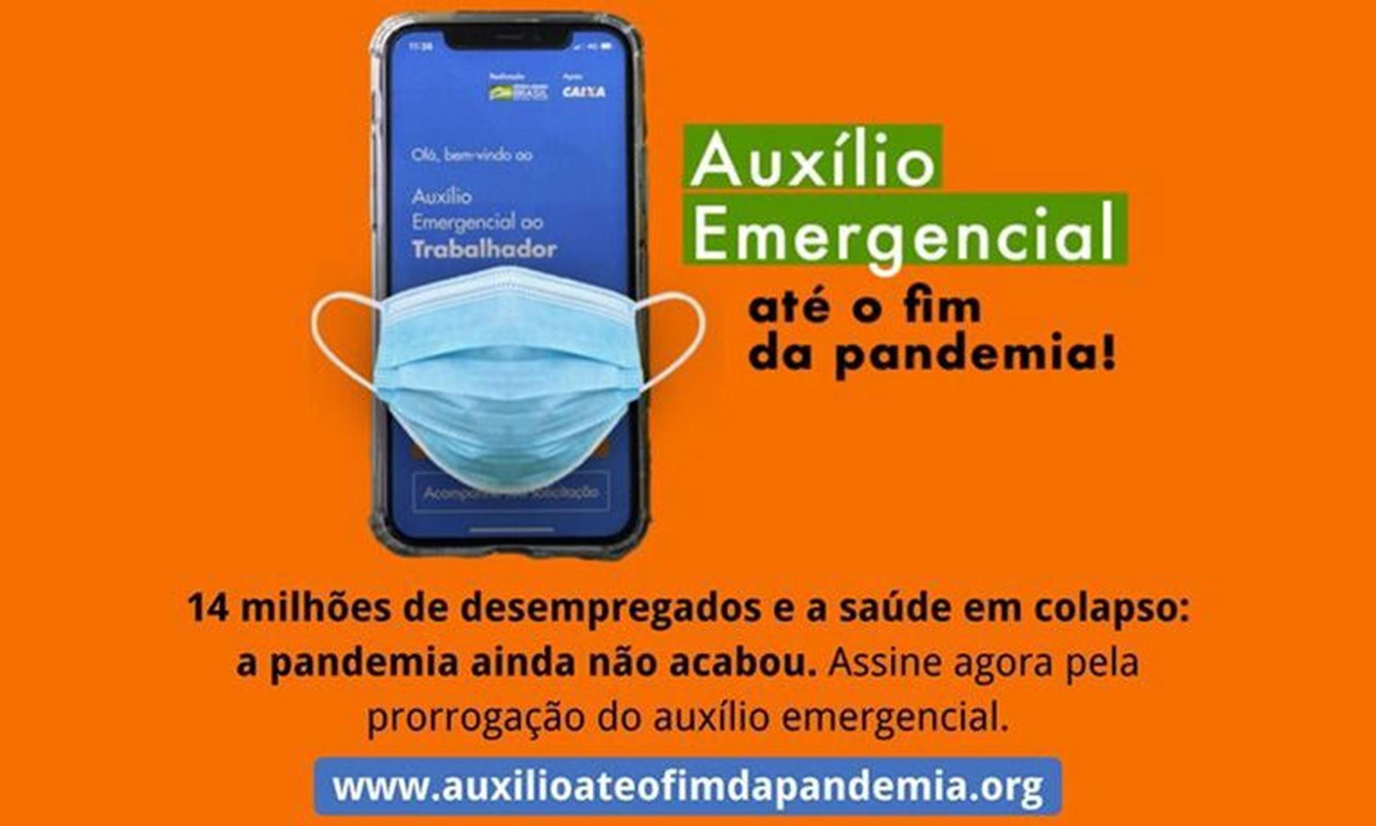 emergencial, cut, auxílio, campanha, covid,, Divulgação/CUT