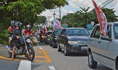 Protesto cobra vacinação urgente e volta do auxílio emergencial