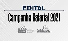 Edital de convocação de Assembleia Geral da Campanha Salarial 2021