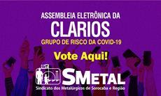 Assembleia Eletrônica dos trabalhadores da Clarios; vote aqui