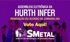 Assembleia Eletrônica dos trabalhadores da Hurth Infer; vote aqui