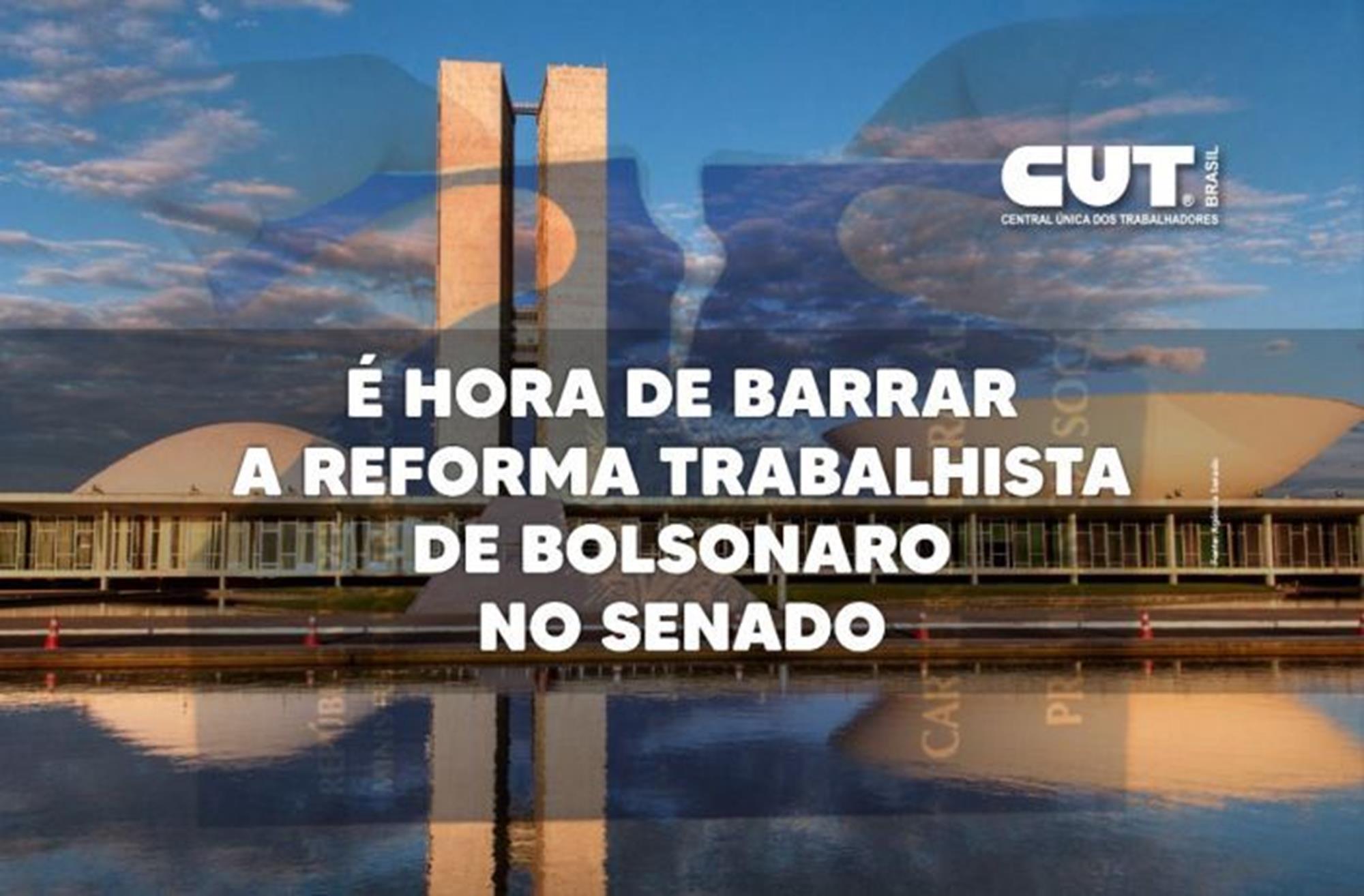 reforma, trabalhista, bolsonaro, senado, Divulgação