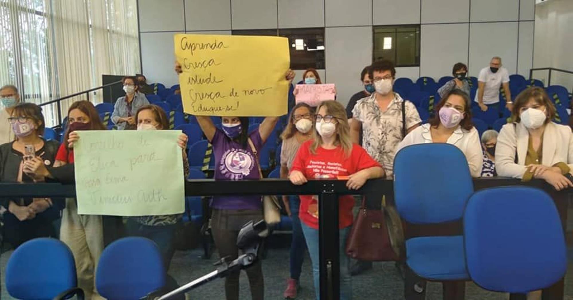 mulheres, protesto, camarasorocaba, camaradesorocaba, iarabernardi, fernandagarcia, mulheres, Divulgação/Iara Bernardi