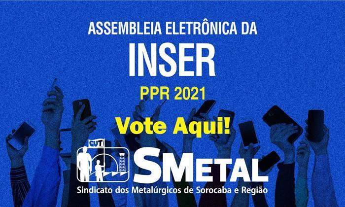 Assembleia Eletrônica dos trabalhadores da Inser; vote aqui