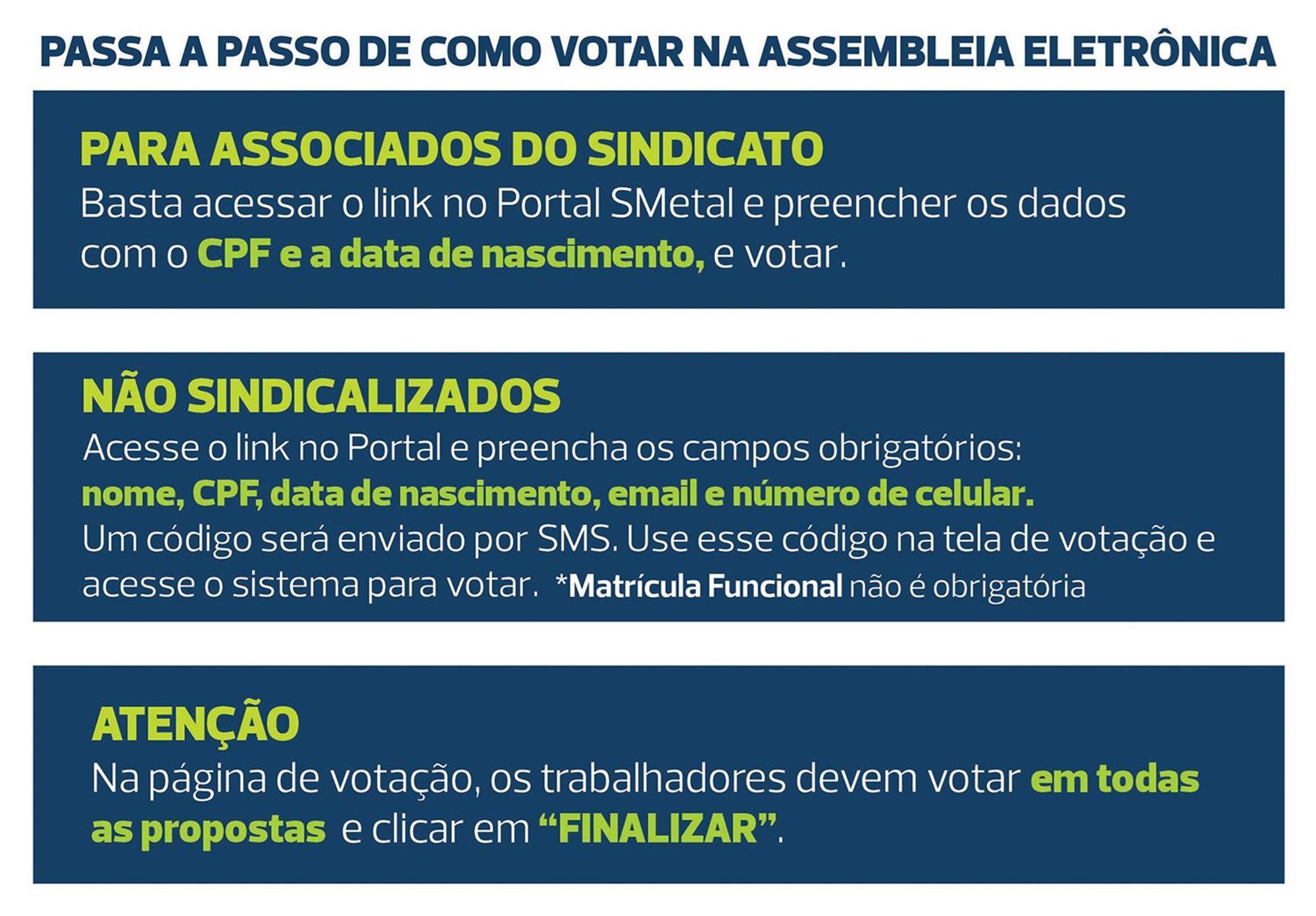 passo, assembleia, eletrônica, votação, campanha, Divulgação