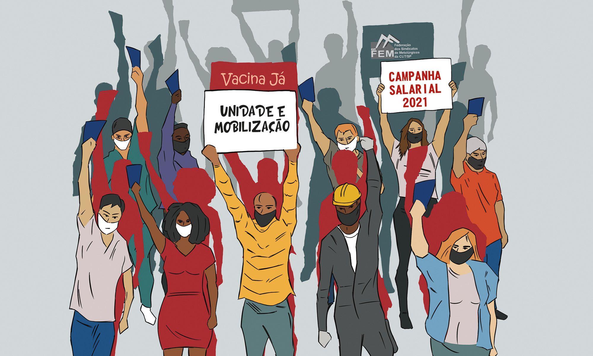campanha, salarial, unidade, vitória, sorocaba, reajuste,, Divulgação SMetal